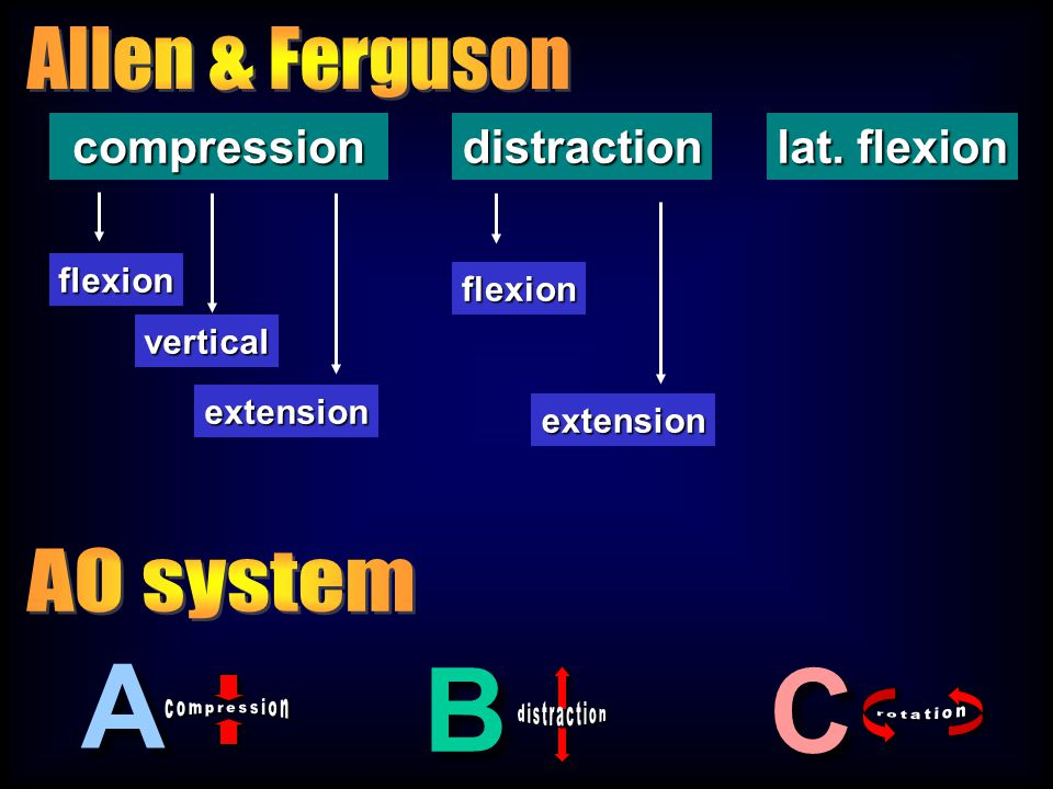 A B C Allen & Ferguson AO system compression distraction lat. flexion