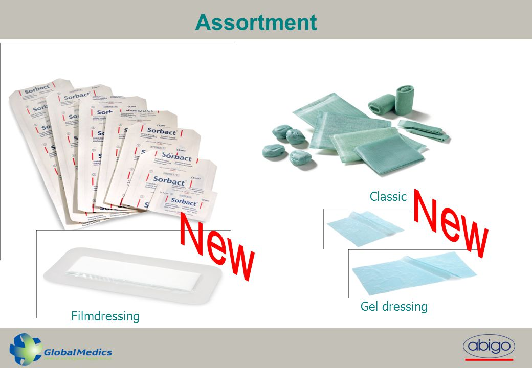 Assortment Classic New New Gel dressing Filmdressing