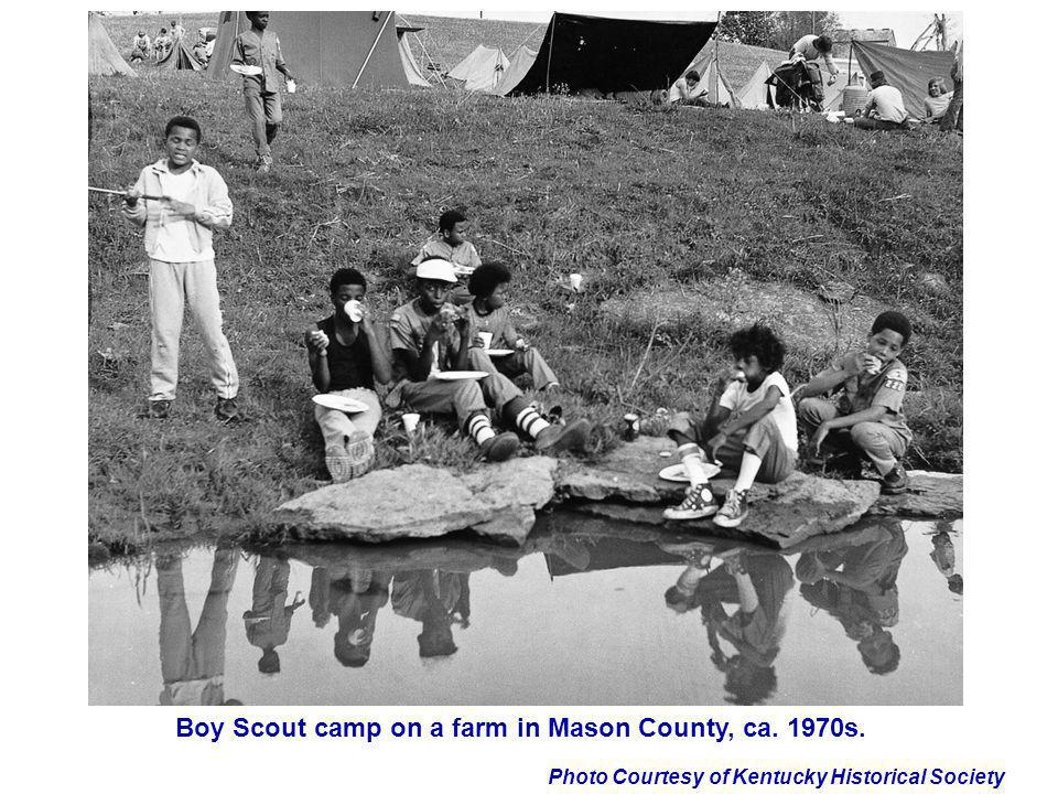 Boy Scout camp on a farm in Mason County, ca. 1970s.