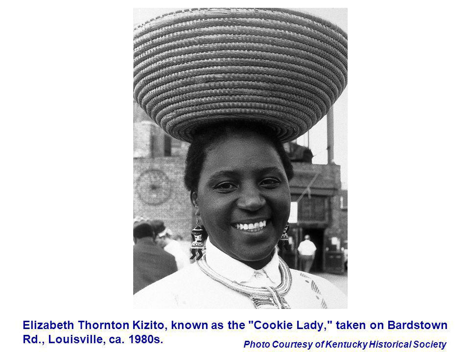 Elizabeth Thornton Kizito, known as the Cookie Lady, taken on Bardstown Rd., Louisville, ca.