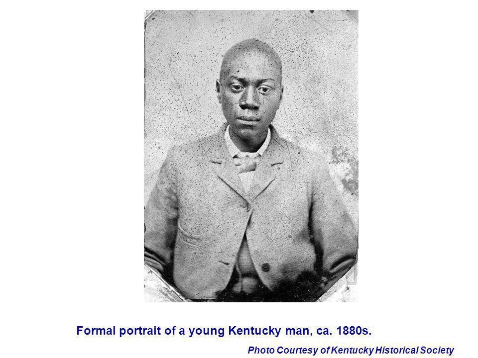 Formal portrait of a young Kentucky man, ca. 1880s.