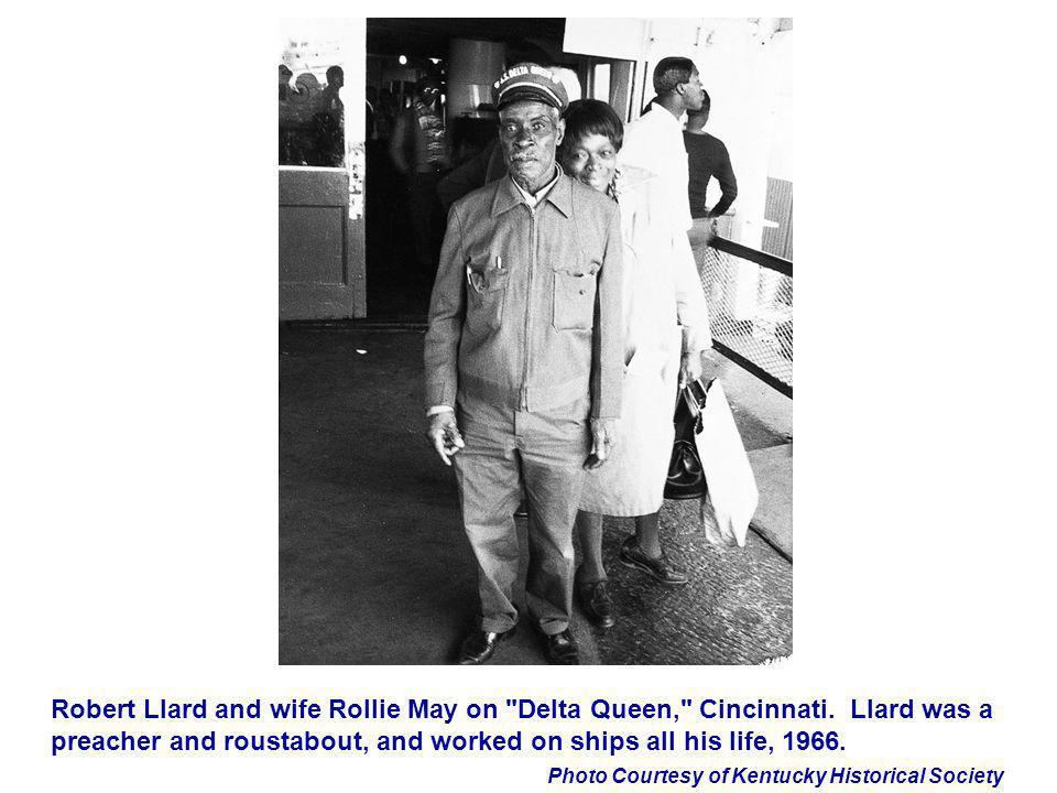 Robert Llard and wife Rollie May on Delta Queen, Cincinnati