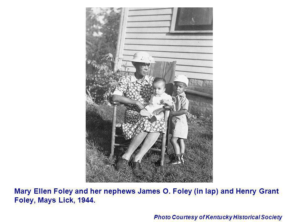 Mary Ellen Foley and her nephews James O