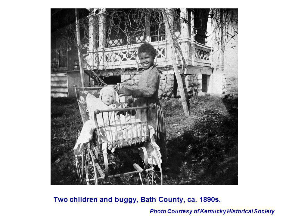 Two children and buggy, Bath County, ca. 1890s.