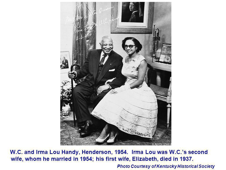 W. C. and Irma Lou Handy, Henderson, 1954. Irma Lou was W. C