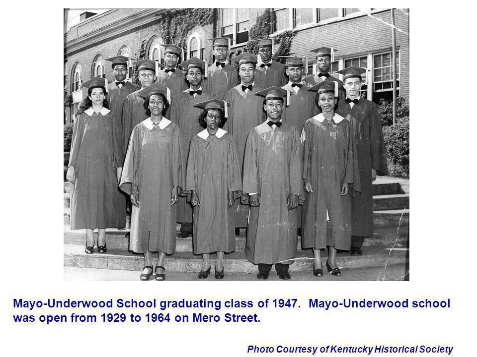 Mayo-Underwood School graduating class of 1947