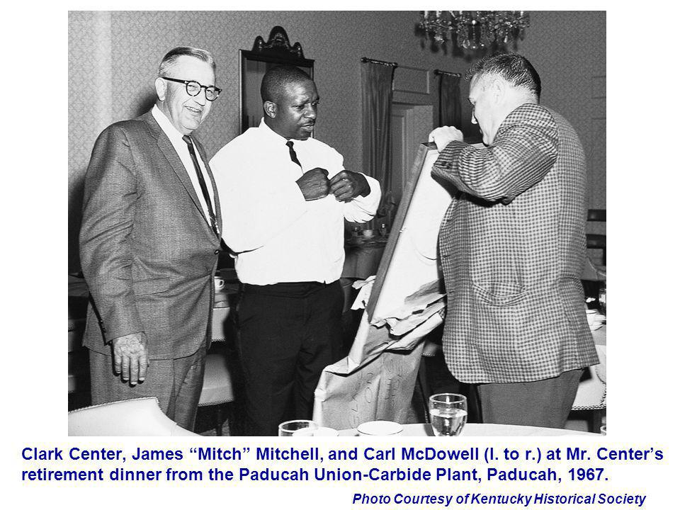 Clark Center, James Mitch Mitchell, and Carl McDowell (l. to r