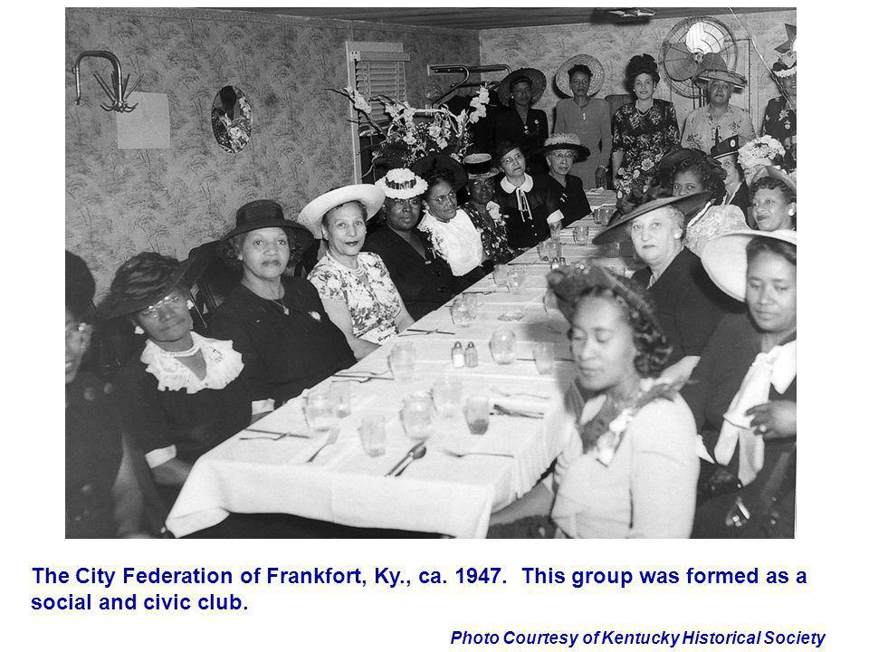 The City Federation of Frankfort, Ky. , ca. 1947