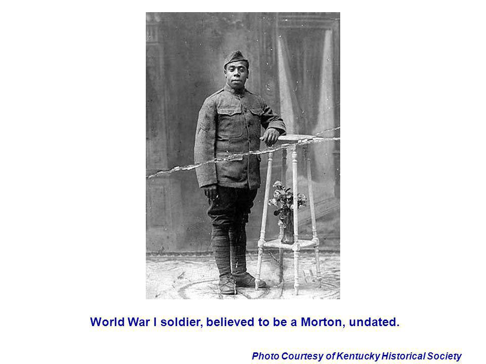 World War I soldier, believed to be a Morton, undated.