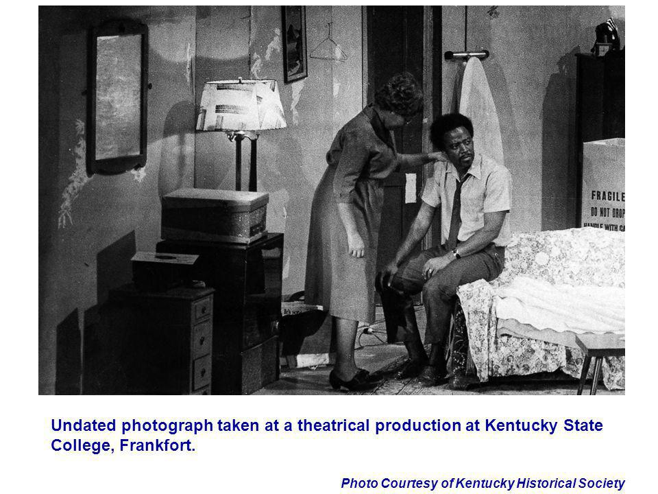 Undated photograph taken at a theatrical production at Kentucky State College, Frankfort.
