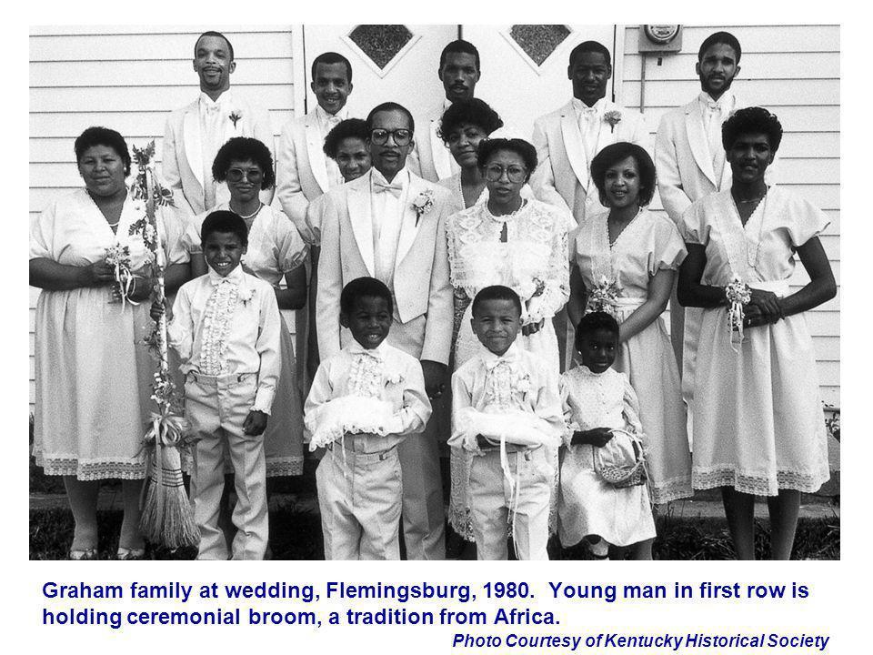 Graham family at wedding, Flemingsburg, 1980