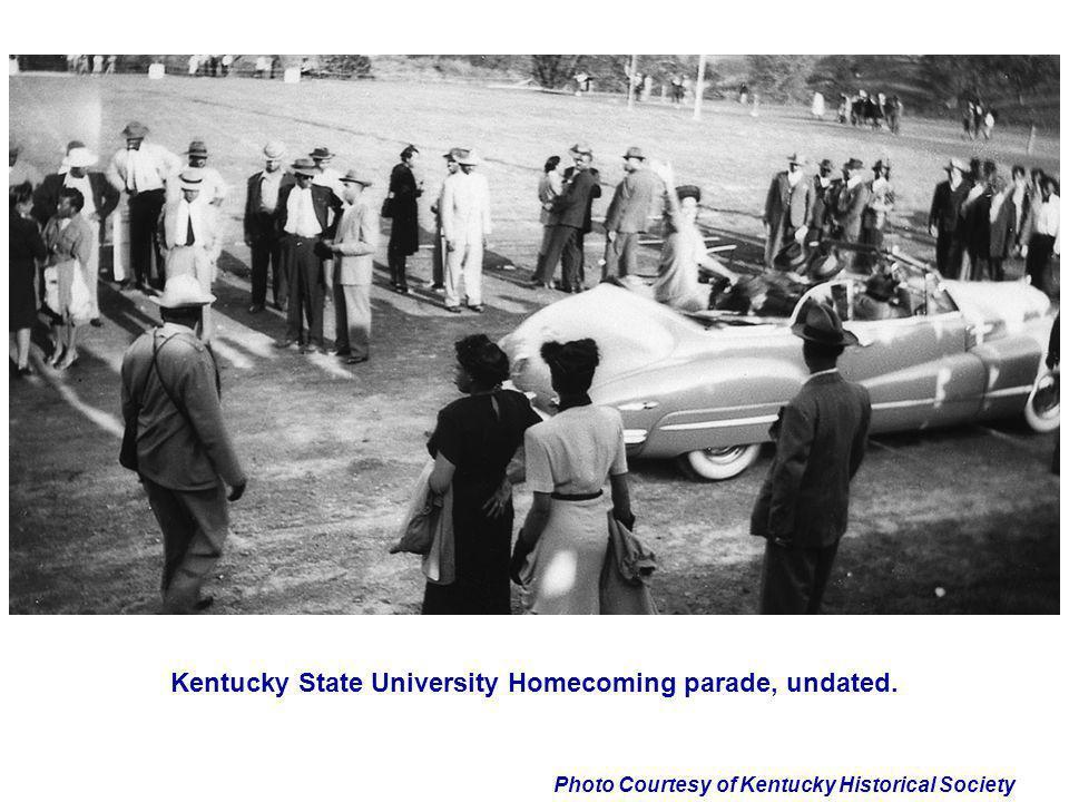 Kentucky State University Homecoming parade, undated.