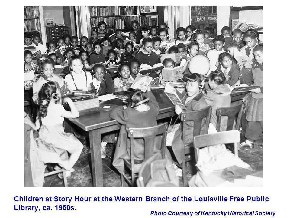 Children at Story Hour at the Western Branch of the Louisville Free Public Library, ca. 1950s.