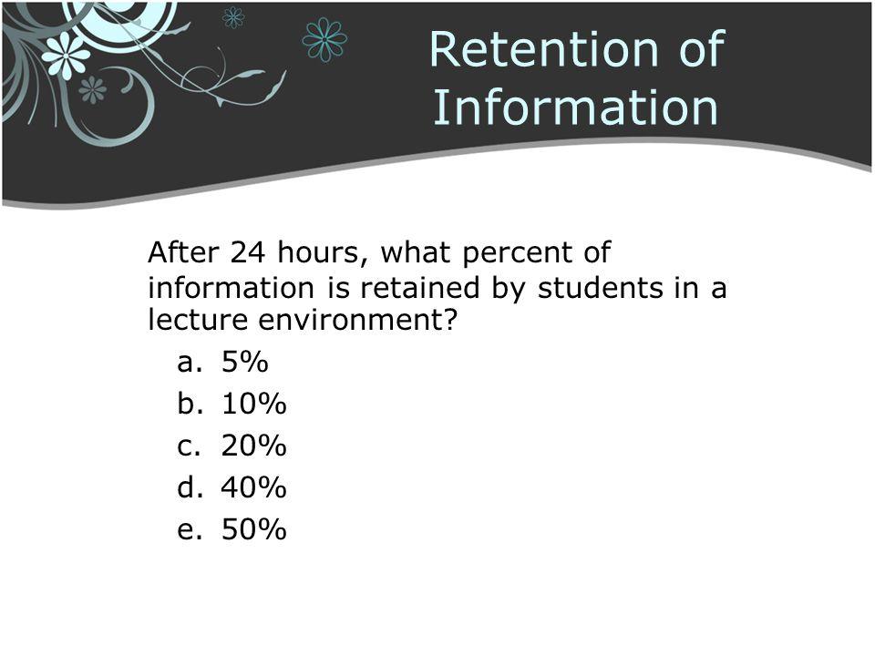Retention of Information