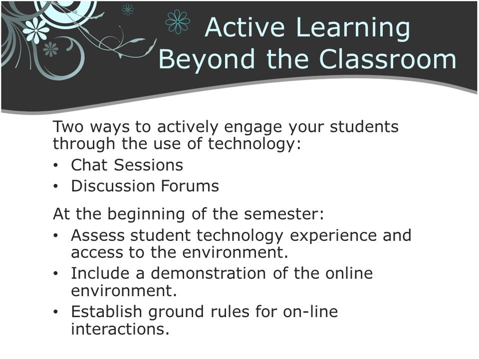 Active Learning Beyond the Classroom