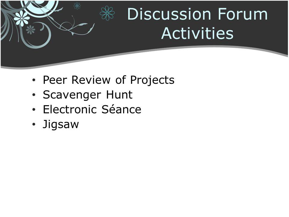 Discussion Forum Activities