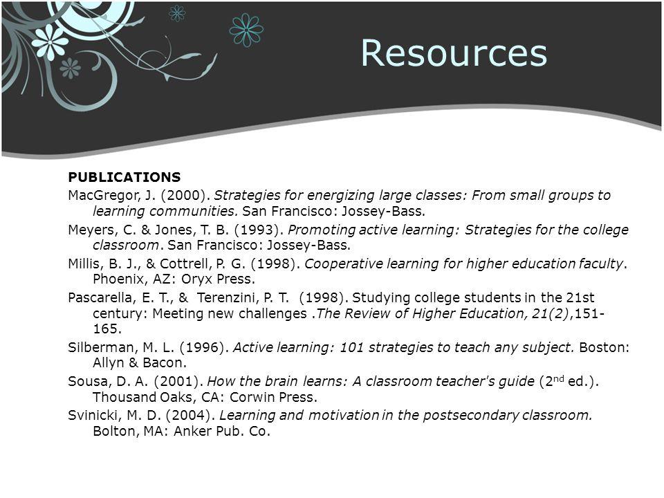 Resources Publications