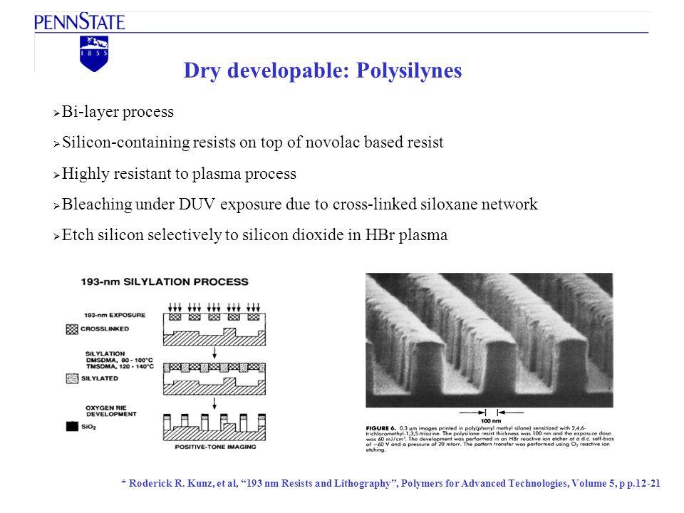 Dry developable: Polysilynes