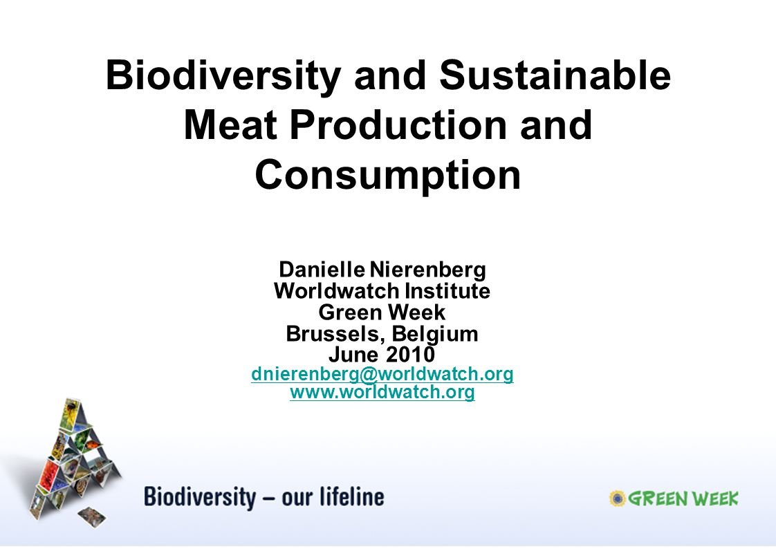 Biodiversity and Sustainable Meat Production and Consumption
