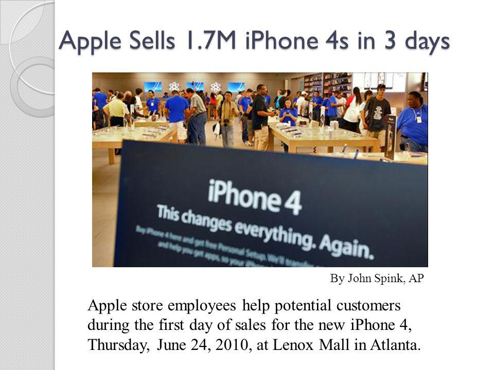 Apple Sells 1.7M iPhone 4s in 3 days