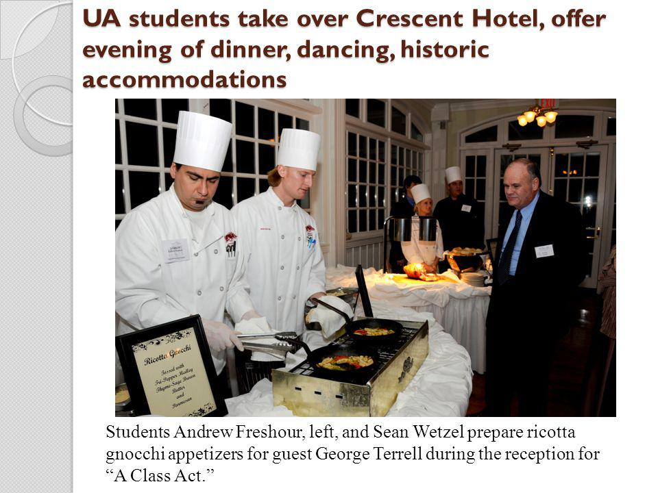 UA students take over Crescent Hotel, offer evening of dinner, dancing, historic accommodations