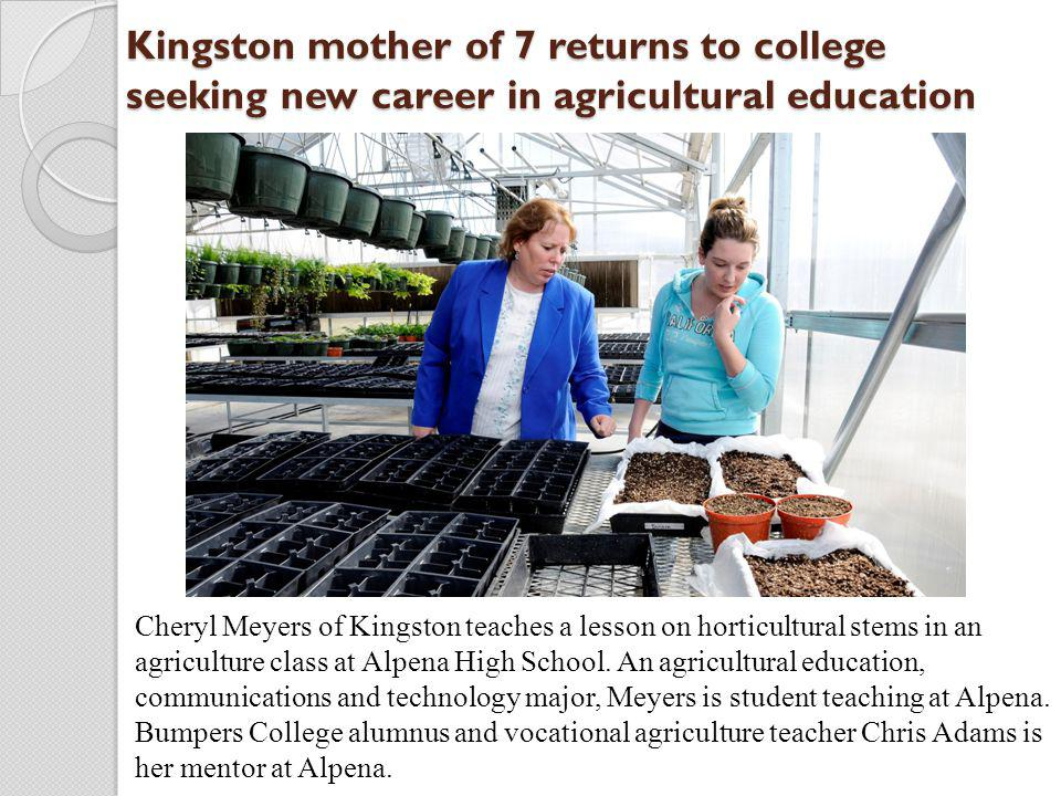 Kingston mother of 7 returns to college seeking new career in agricultural education