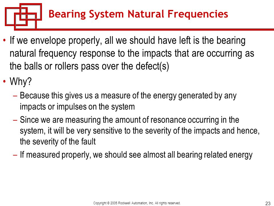 Bearing System Natural Frequencies