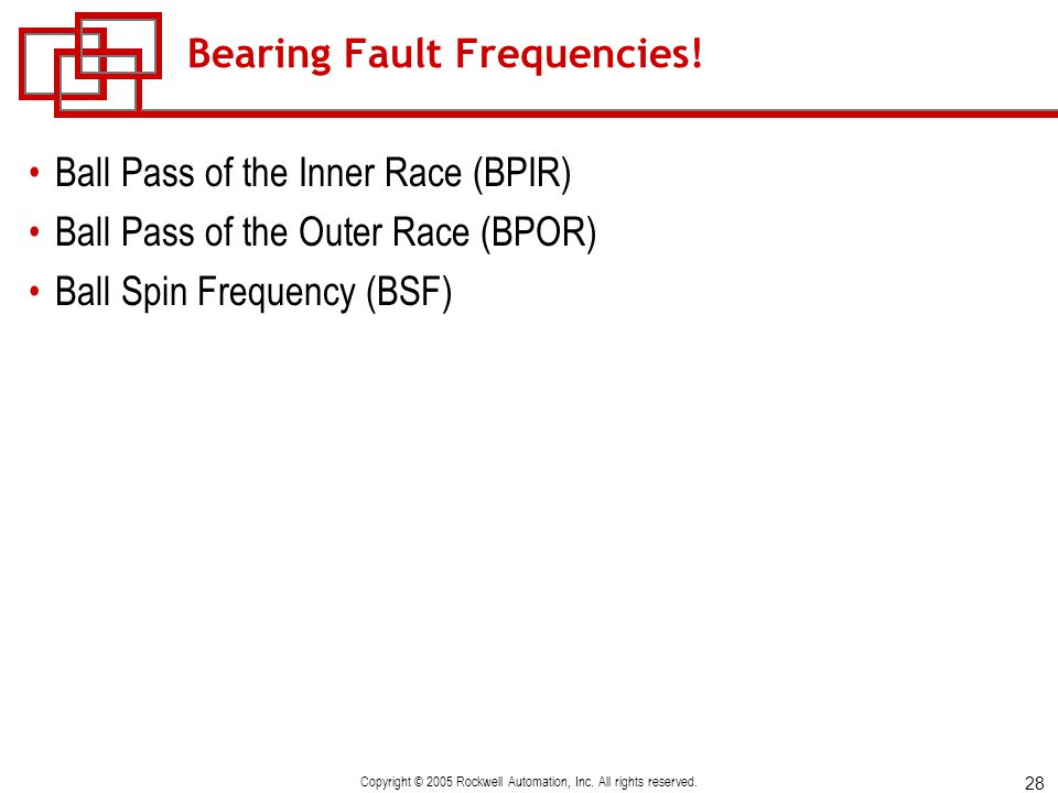 Bearing Fault Frequencies!
