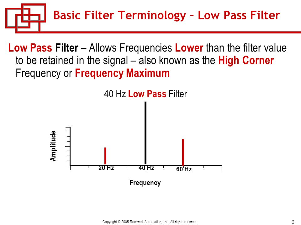 Basic Filter Terminology – Low Pass Filter