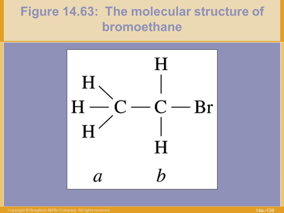 Figure 14.63: The molecular structure of bromoethane