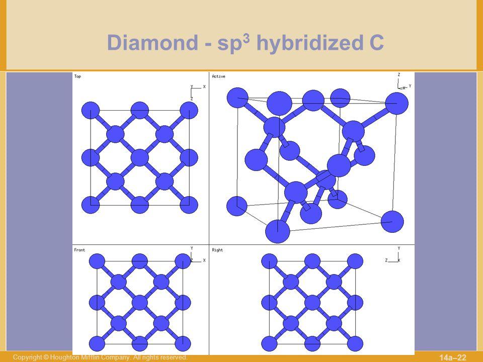 Diamond - sp3 hybridized C