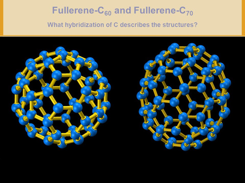 Fullerene-C60 and Fullerene-C70 What hybridization of C describes the structures