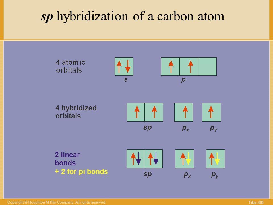 sp hybridization of a carbon atom