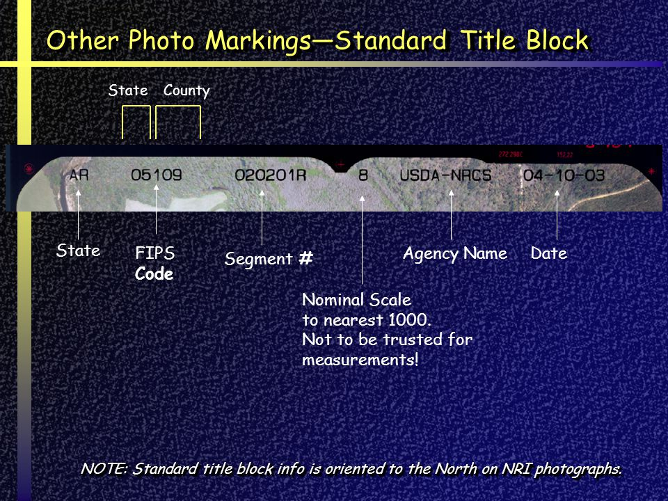 Other Photo Markings—Standard Title Block