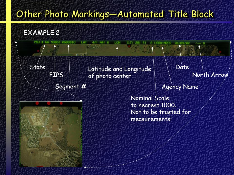 Other Photo Markings—Automated Title Block