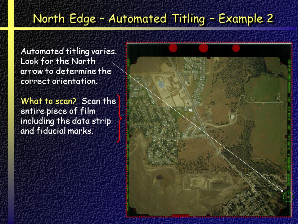 North Edge – Automated Titling – Example 2