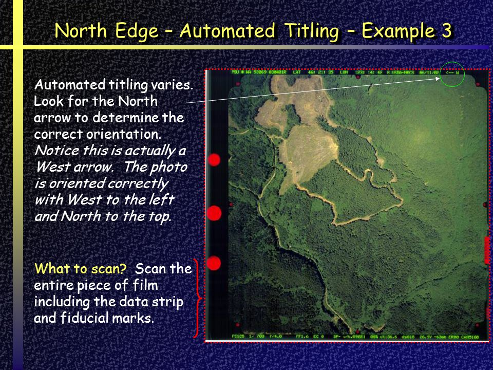 North Edge – Automated Titling – Example 3