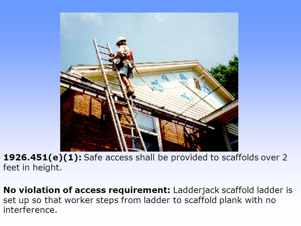Note: Worker wearing body harness with rope grab