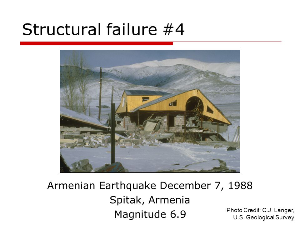 Armenian Earthquake December 7, 1988
