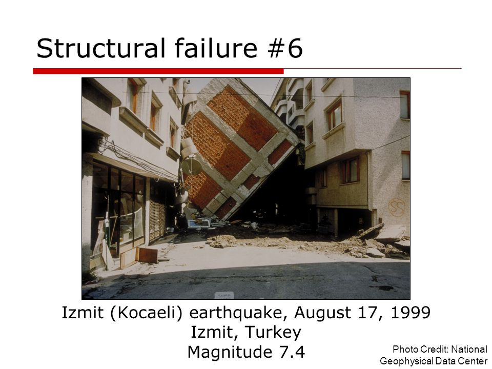 Izmit (Kocaeli) earthquake, August 17, 1999