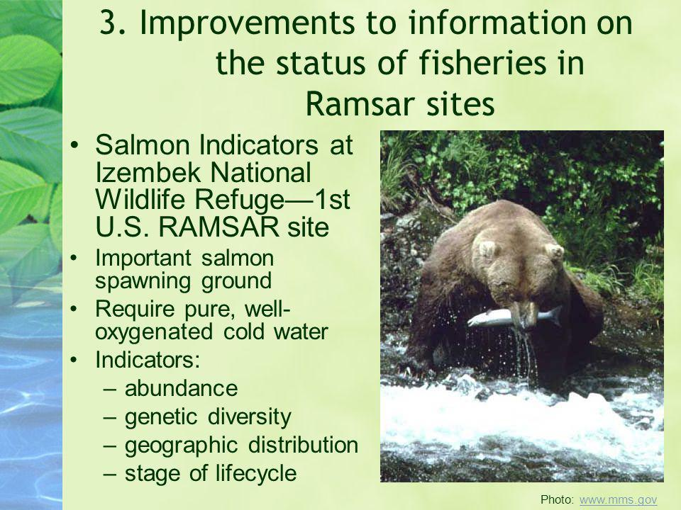 3. Improvements to information on the status of fisheries in Ramsar sites