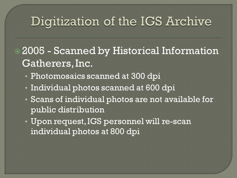 Digitization of the IGS Archive
