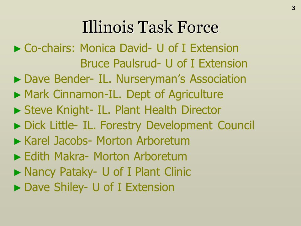 Illinois Task Force Co-chairs: Monica David- U of I Extension