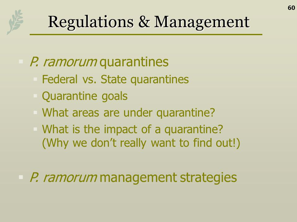 Regulations & Management