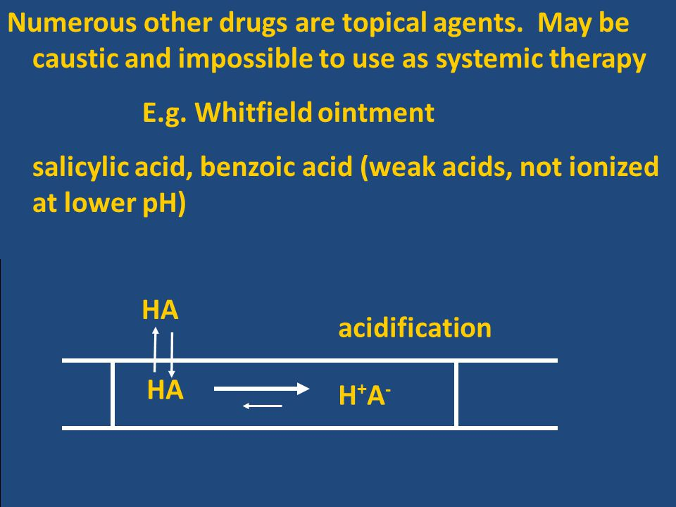 Numerous other drugs are topical agents