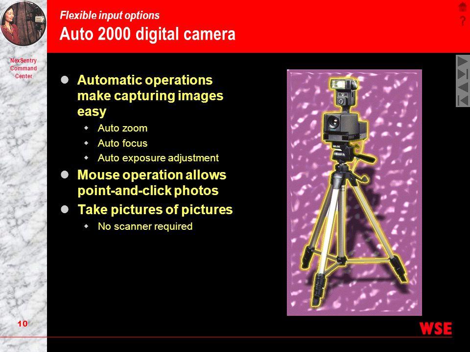 Flexible input options Auto 2000 digital camera