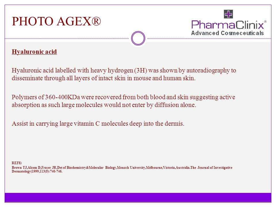 PHOTO AGEX® Hyaluronic acid