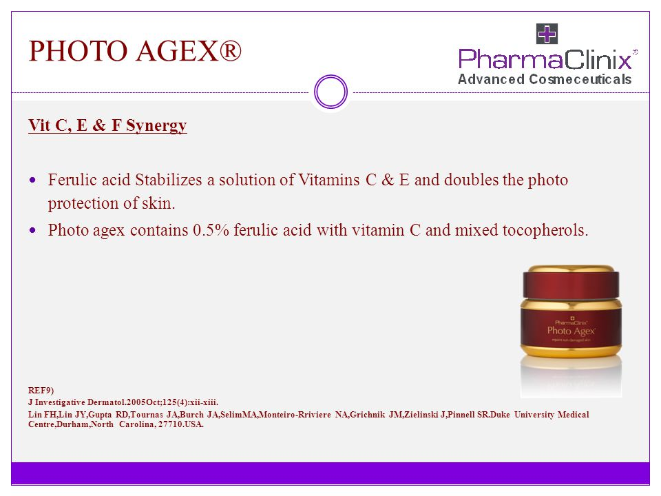 PHOTO AGEX® Vit C, E & F Synergy