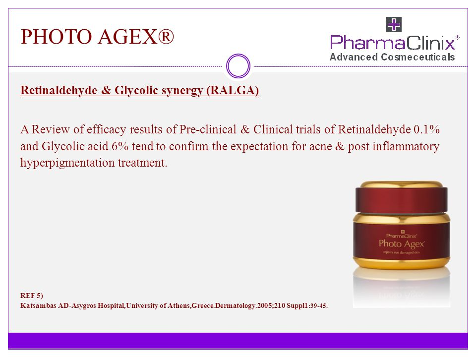 PHOTO AGEX® Retinaldehyde & Glycolic synergy (RALGA)