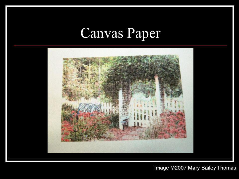 Canvas Paper Image 2007 Mary Bailey Thomas